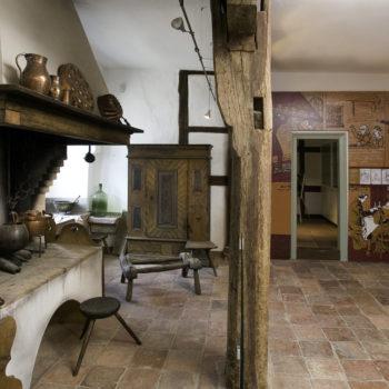 Rekonstruktion der historischen Küche.